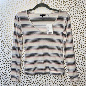 Urban Outfitters BDG Slim Fit V Neck Thermal NEW